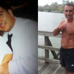 Robby Guardala started training 10 years ago next month. His starting weight was 102 kgs and he is only 5ft 6in.  He is currently 75kgs (see attached) and in awesome shape at 42yrs of age.  After 10 years of Team chopper training he has become a great ambassador for health.  Robby runs up to 50kms per week as a supplement to his training with me.