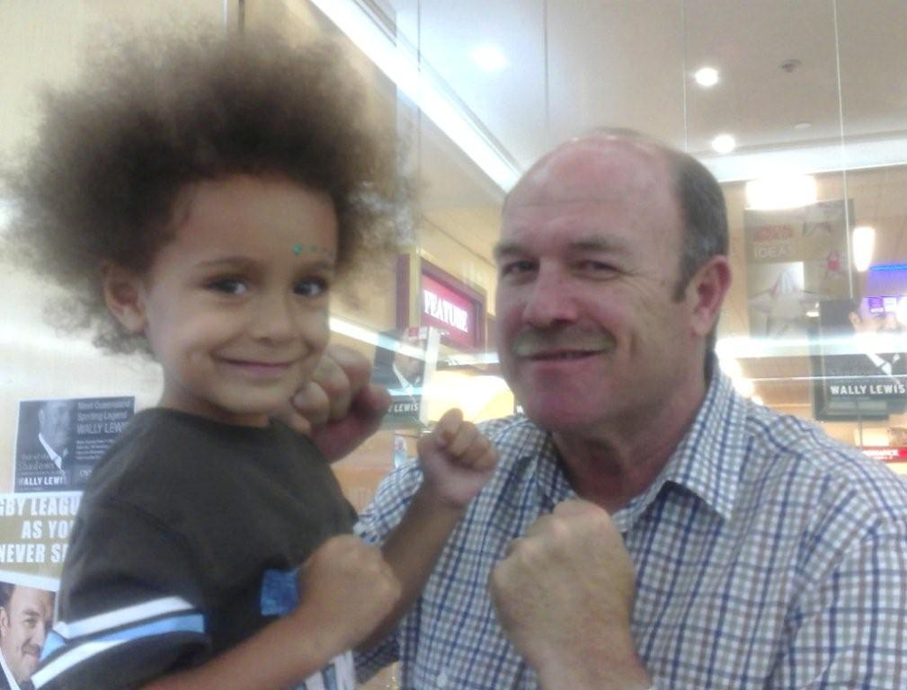 Wally Lewis and Isaiah